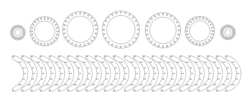 CNC Digital Download Rolling Parametric Globe Lamp Home Decor Furniture DXFAI File Type