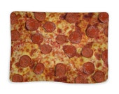 Pizza blanket for home, walks and rest, warm and soft plaid for adult, kids, girls, boys, women, for lovers or family, funny