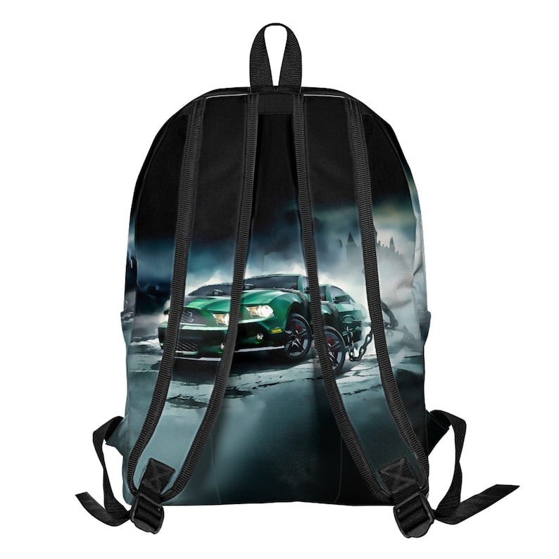 All Over Printed School Backpack Racing Car Unisex Water proof Sale Work Travel rucksack