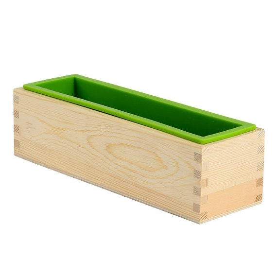 Wooden Loaf Soap Moulds Silicone With Lid Making Tools Baking Cake Mould 1000g