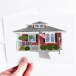 New home gift.drawing of house.illustration of house.watercolor house portrait of house.home illustration.house drawing from photo.digital