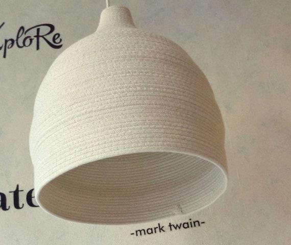 Natural Light Minimalist Light nursery pendant light Natural color pendant light Basket pendant light shade Cotton rope Pendant Light