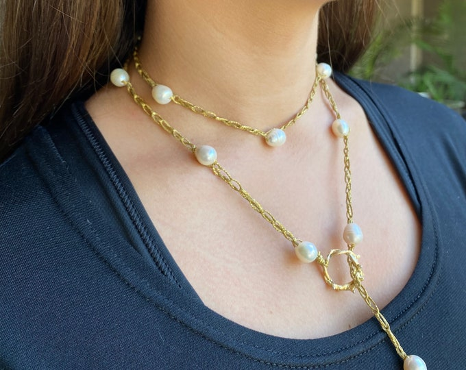 Pearl Lariat | Crochet Collection | Pearl Necklace | Crown of Grace | Boho