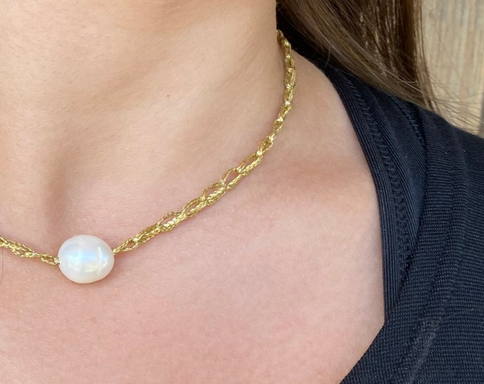 Crochet Collection | Pearl Necklace | Choker | Gold Necklace | Crown of Grace