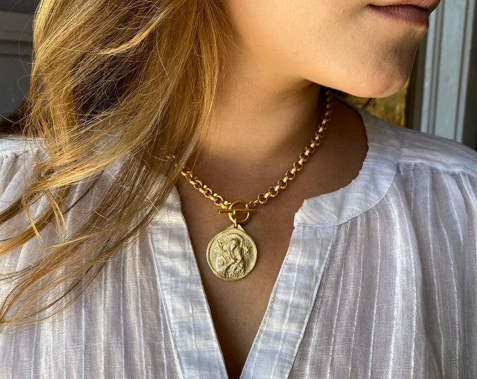 Crown of Grace | Our Lady of Perpetual Help | Rolo Necklace