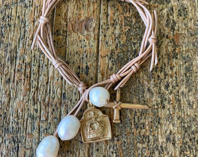 The Crown of Grace Bracelet   Rose Gold Metallic   Religious Bracelet   Christian Gift   Jesus Bracelet   Holy Spirit   Crown of Thorns