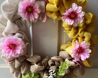 14 in Summer Burlap Wreath