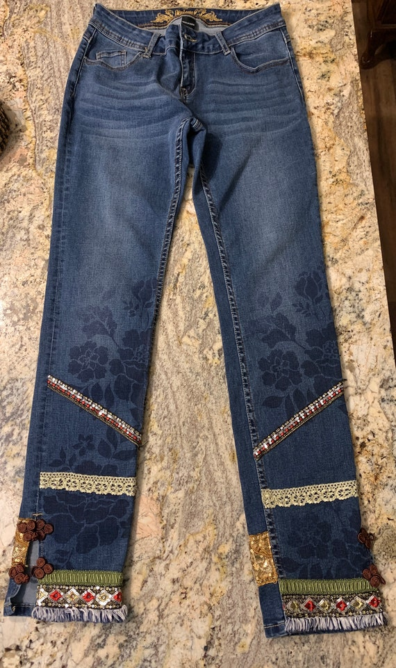 Embroidered Desigual Jeans