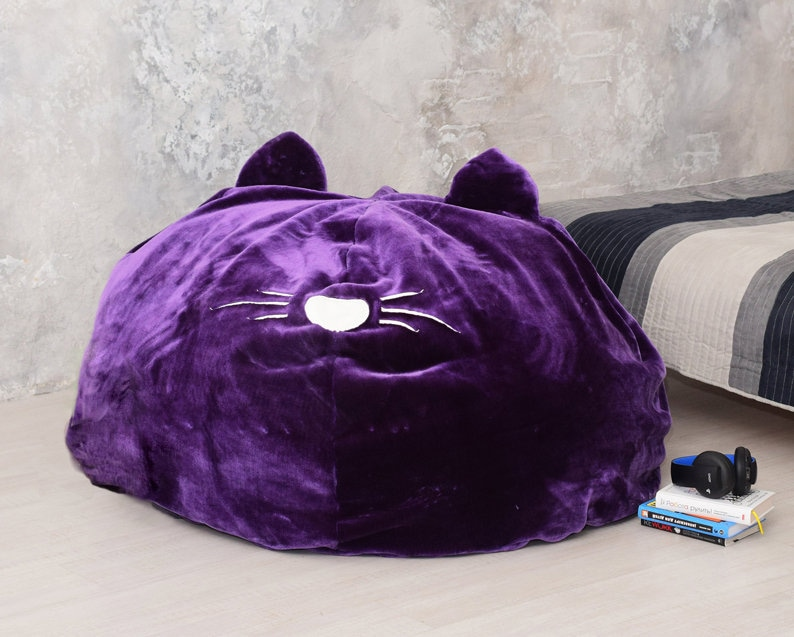 Phenomenal Big Cat Faux Fur Bean Bag Cover Multi Color Bean Bag Chair Kids Bean Bag Furry Chair Furry Beanbag Cat Cushion Chair Lounge Furniture Inzonedesignstudio Interior Chair Design Inzonedesignstudiocom