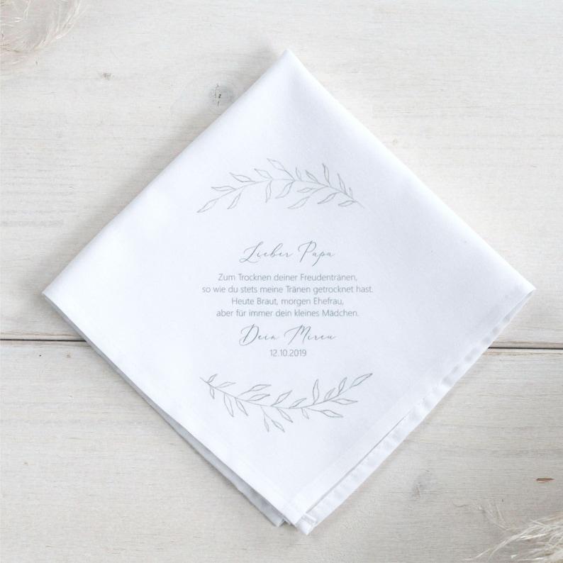 Stofftaschentuch personalisiert, Geschenk Brautvater