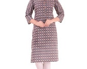 Chichi Indian Women 39 s Printed Cotton Kurti Multi-Color Top