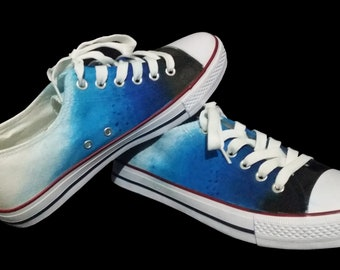 2e897635a199 Ocean Blue Sea Hand-Painted Converse Shoes  Design your own