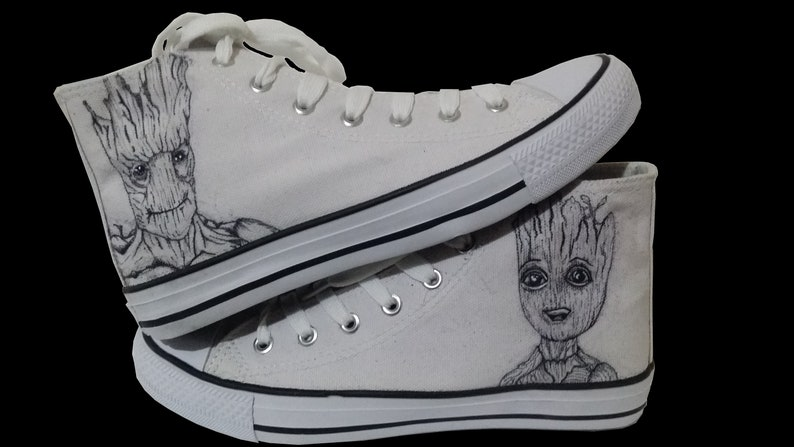 576ef1669e0c Im Groot Hand-Painted Converse Shoes Design your own