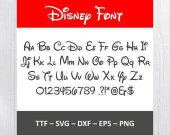 Disney font   Etsy