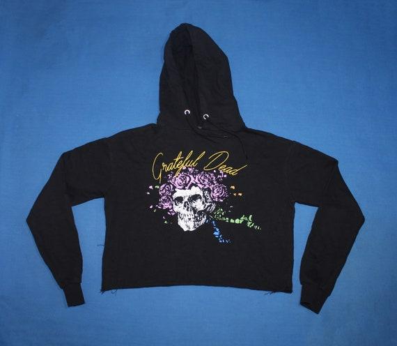Grateful Dead crop hoodie American psychedelic roc