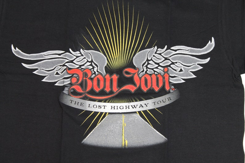 NEW Bon Jovi tour shirt Lost Highway tour American rock band shirt Hard rock Glam metal Pop rock Men/'s size S