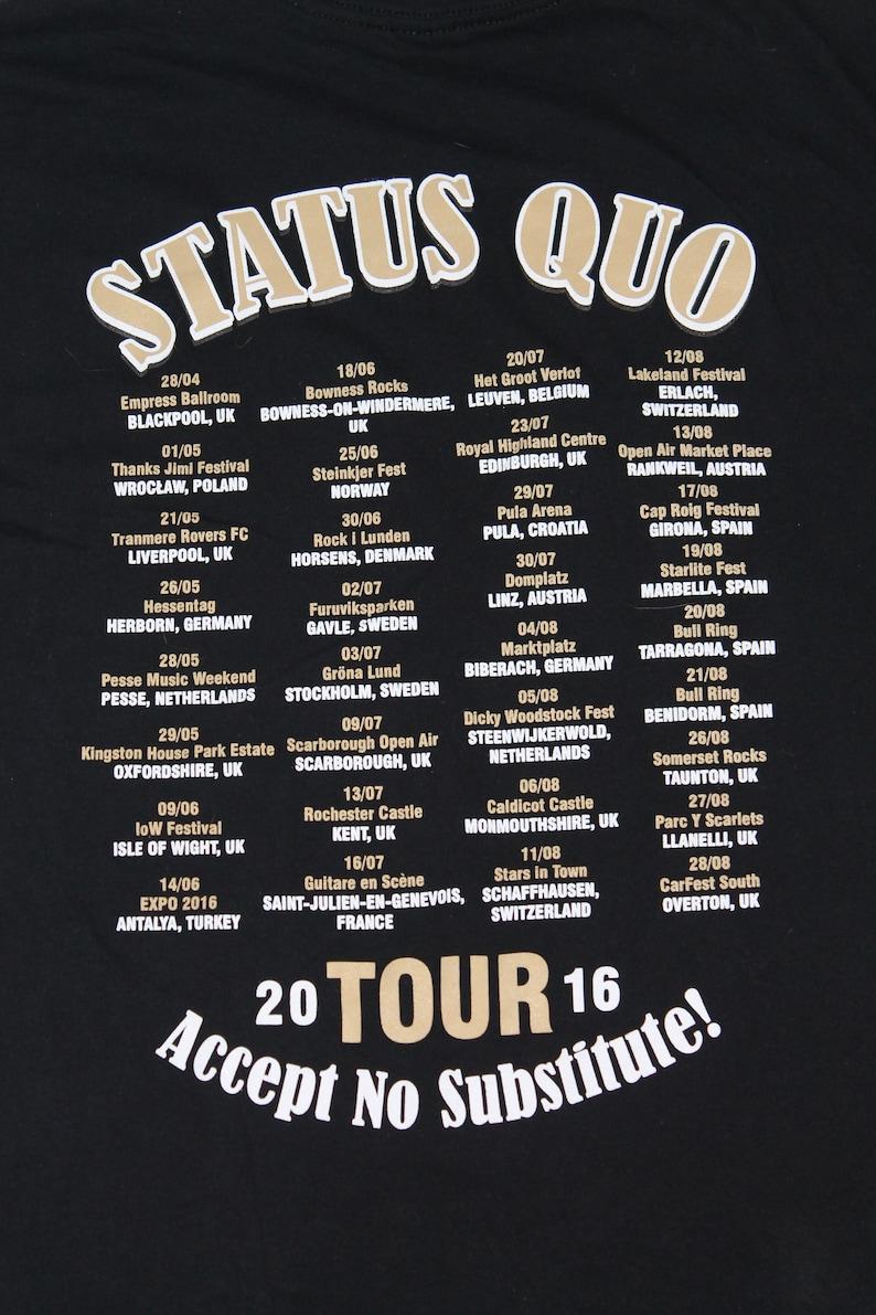 The Definitive Hits shirt English rock band shirt Hard rock Rock and roll Men/'s size XXL Status Quo tour shirt Accept No Substitute!