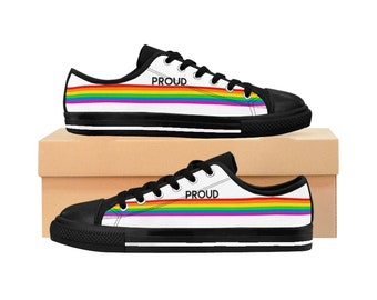 a5119472a862 Proud Rainbow Converse Style Shoe Gay Pride Men s Sneakers