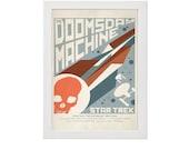 Star Trek Doomsday Machine USS Enterprise Captain Spock Kirk Movie Film Space Minimal Minimalist Alternative Poster Print