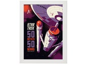 50 Years of Star Trek Artwork Home Decor Poster