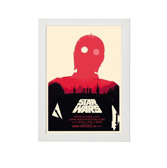 Star Wars Episode Iv A New Hope Classic Trilogy Art Minimal Etsy