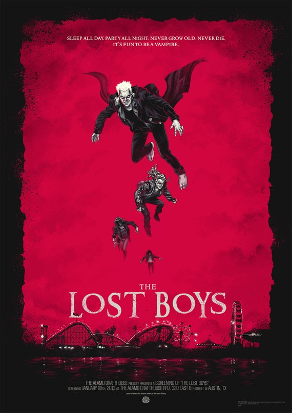 The Lost Boys Sleep all Day Party All Night Never Die Movie 5 Vinyl Sticker