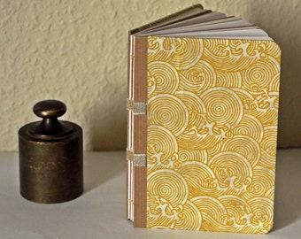 Yellow Waves Notebook A6 - Handmade