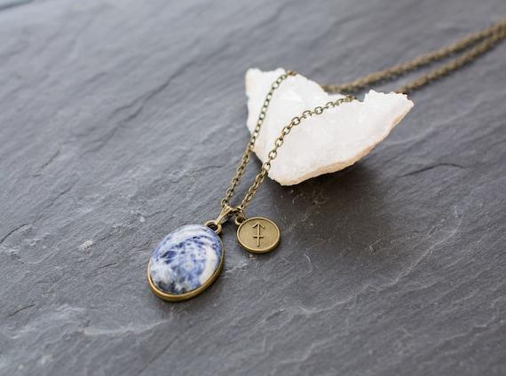 Astrological pendant Fish Sodalite