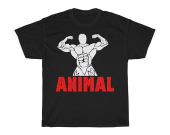 3789e81a7ce9 Bodybuilding Workout ANIMAL Muscle Gym Fitness T-shirt Fashion for men  women kids Cute