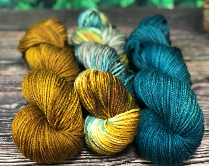 """Featured listing image: Hand Dyed Yarn """"Pathways""""  Kit"""