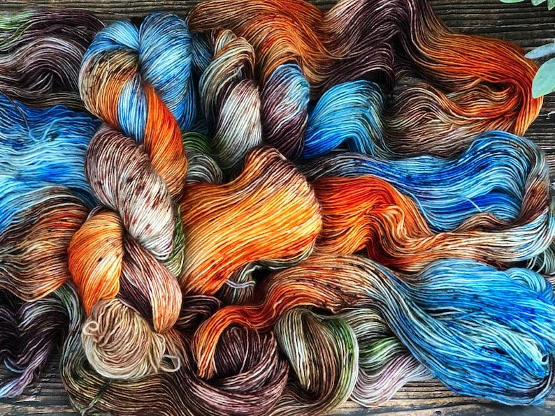Hand dyed 100% SW Merino Singles Fingering Yarn Angel image 0
