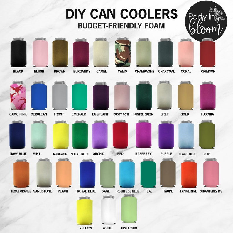 Blank Can Cooler Mix & Match  No Minimum Blank Foam Can image 0