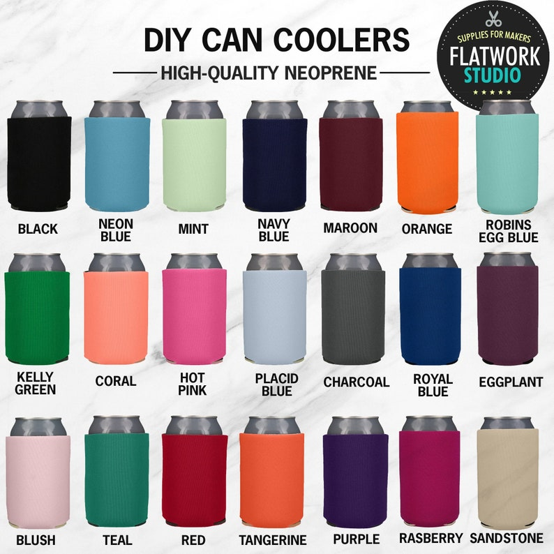 Blank Can Coozie  Blank Neoprene Can Coolers   Blank Can image 0