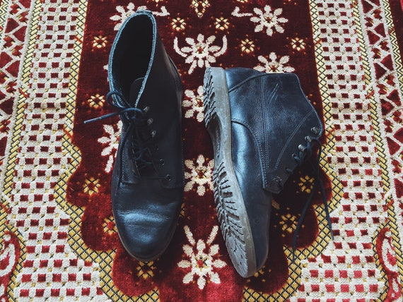 Vintage 80's Dexter USA Made Doc Marten Style Blac
