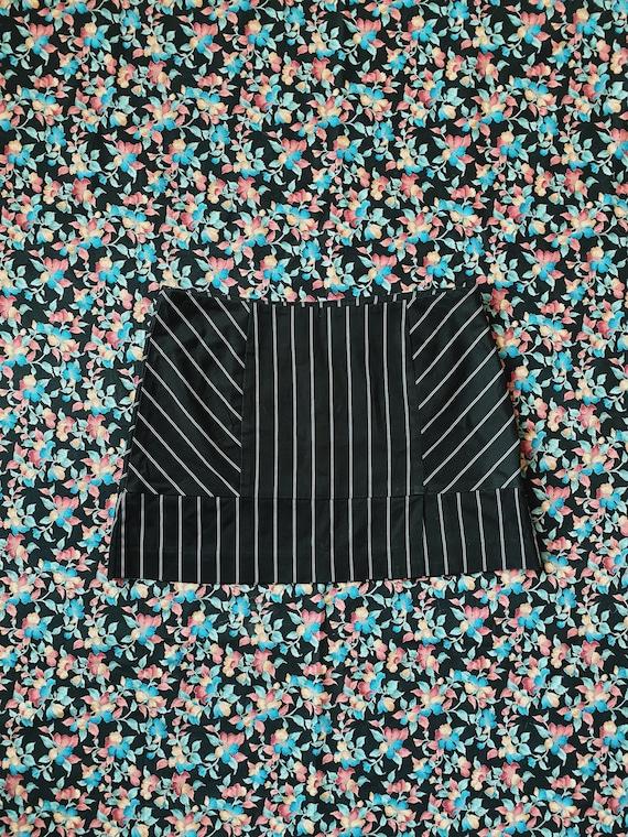 Vintage 90's Y2K BEBE Black White Pinstripe Stripe