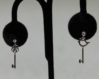 54ebd71b8 Key Single Earring Set of 2 - Odd earrings pair- Mini key charms on Silver  and Gold