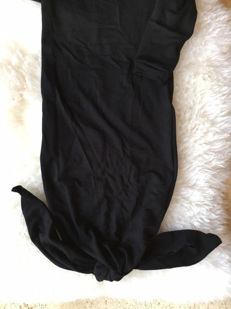 Going Home Black Knot Gown \u2022 Gender Neutral \u2022 Newborn \u2022 Bamboo Knit