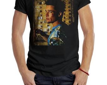 2f09dcf53e727 Brad Pitt Fight Club Printed Black T-shirt Size S to 5XL