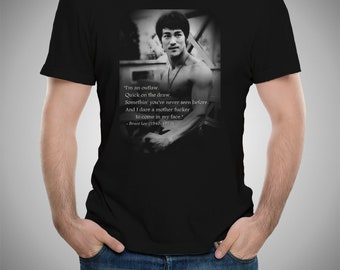 1657eb8d6 Bruce Lee Celebs Quotes T-shirt S to 5XL