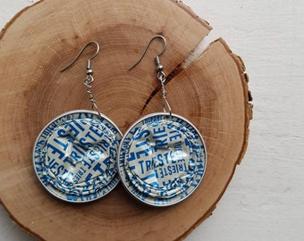 Upcycled coffee pods earrings - Trieste - Palermo - Milano