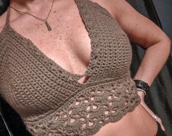 Chocolope Crochet Bralette Bikini Top