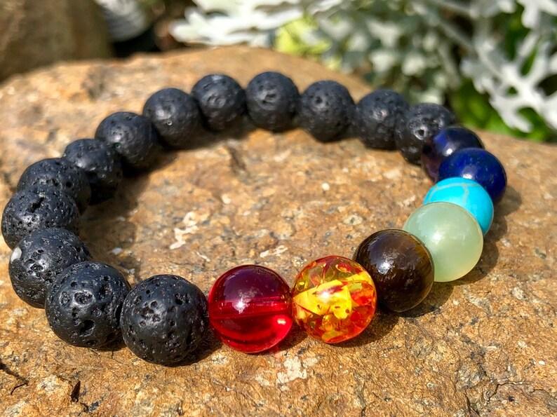 Mini chakra balancing set for healing 7 stones /& chakra bracelet meditation