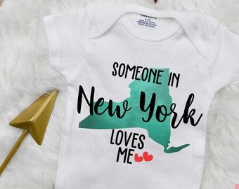 New York Giants Onesie Bodysuit Shirt Love Watching With Grandma