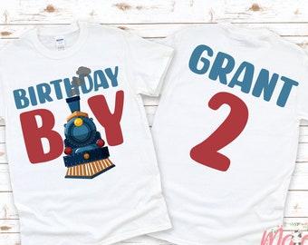 Train Birthday T-Shirt   Birthday Boy Birthday Shirt   Locomotive Birthday T-Shirt   Kids Birthday Shirt   Birthday Boy Shirt