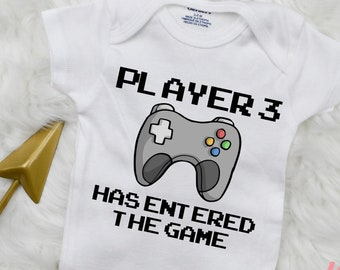 Player 3 Has Entered The Game Youth Boys Long Sleeve Shirts Cotton