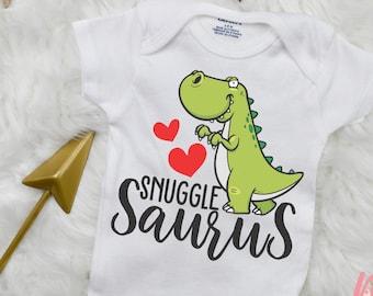 Snuggle Saurus Bodysuit | Dinosaur Bodysuit | Baby Shower Gift | Baby Bodysuit | TRex Bodysuit| | Girl Bodysuit| Boy Bodysuit| Baby Saurus