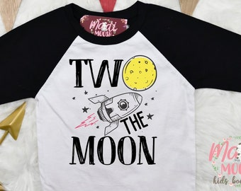 Two The Moon Birthday Shirt