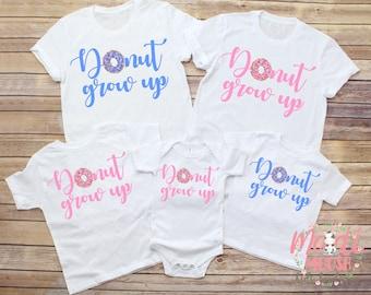 Baby Shower Gift Donut Grow Up Onesie Donut Birthday Party T-shirt