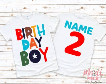Birthday Boy Shirt | Boy's Birthday Shirt | ANY AGE Birthday Shirt | 2nd Birthday Shirt | Cool Birthday Shirt | Birthday Boy Shirt