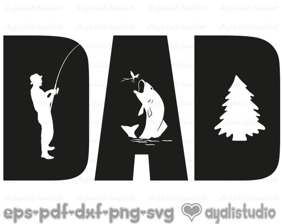 Download Dad Fathers Day Dad Fishing Svg